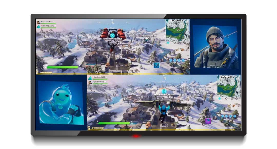 Split Screen Fortnite