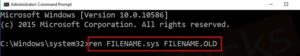 ren-FILENAME.sys-FILENAME.OLD-Command