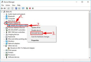 uninstall graphics driver