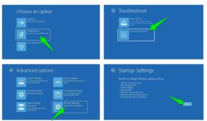 windows recovery environment safe mode