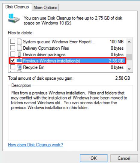 Previous Windows Installation